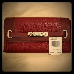 NWT Coach Wallet Maroon Leather